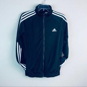 Adidas Black White Striped Athletic track Jacket